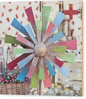 Toy Windmill Wood Print by Tom Gowanlock