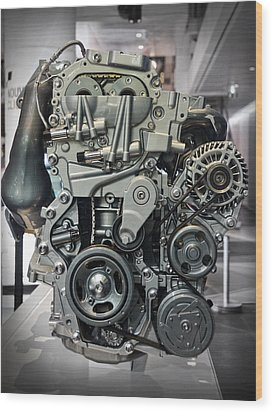Toyota Engine Wood Print by RicardMN Photography