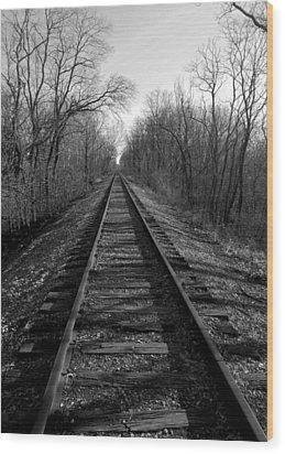 Tracks Wood Print by Brian Amick
