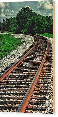 Tracks To Infinity Wood Print