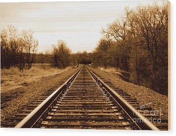Tracks To No Where Wood Print