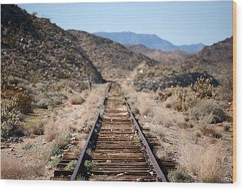 Tracks To Nowhere Wood Print by Peter Tellone