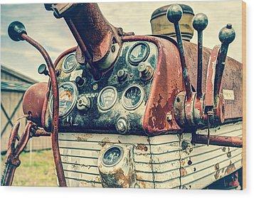 Tractor Dash - Farmall 560 Diesel Wood Print by Gary Heller