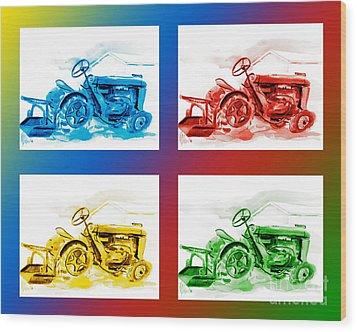 Tractor Mania IIi Wood Print by Kip DeVore