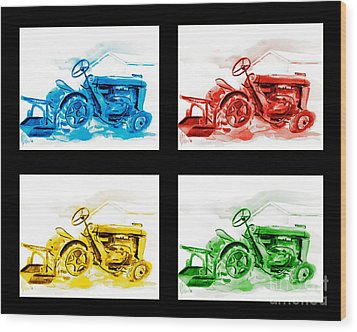 Tractor Mania Iv Wood Print by Kip DeVore