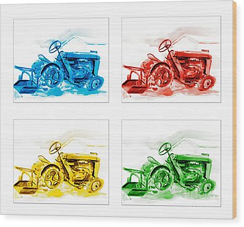 Tractor Mania  Wood Print by Kip DeVore
