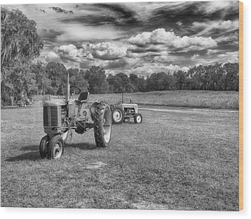 Wood Print featuring the photograph Tractors by Howard Salmon