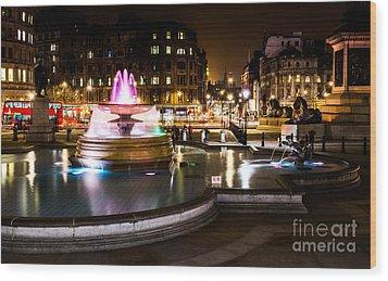 Wood Print featuring the photograph Trafalgar Square by Matt Malloy