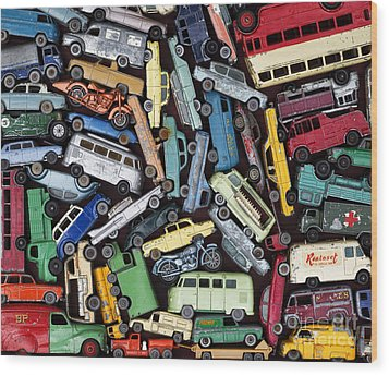 Traffic Jam Wood Print by Tim Gainey