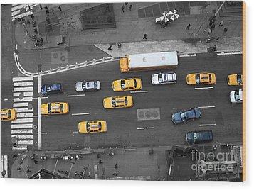 Traffic Report Wood Print by Dan Holm