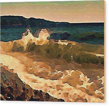 Trail Bay Wave Wood Print