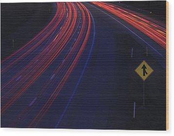 Trail Blazing Wood Print