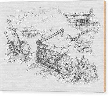 Trail Divides Wood Print