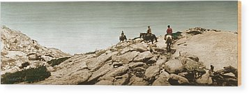 Wood Print featuring the photograph Trail Ride One by Ron Crabb