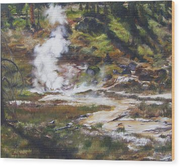 Trail To The Artists Paint Pots - Yellowstone Wood Print