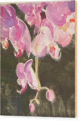 Trailing Phal Wood Print by Valerie Lynch