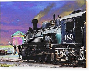 Train 489 Wood Print by Steven Bateson