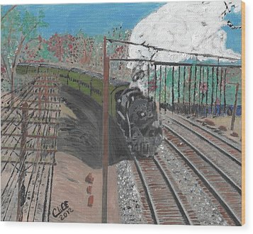Train 641 Wood Print