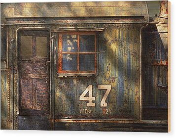 Train - A Door With Character Wood Print by Mike Savad