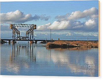 Train Bridge Wood Print