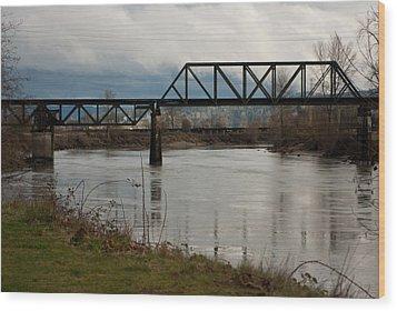 Wood Print featuring the photograph Train Bridge by Erin Kohlenberg