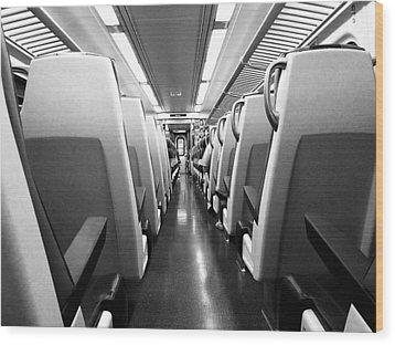 Train Car Wood Print by Sam Newton