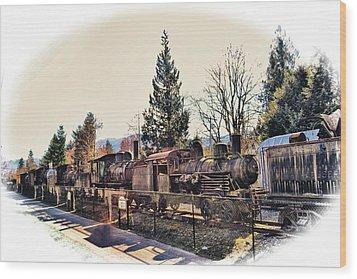 Train Graveyard Wood Print