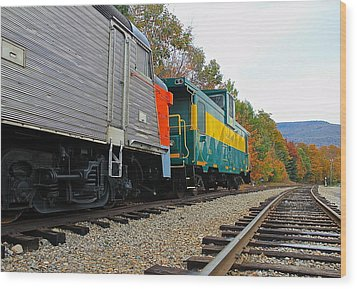 Wood Print featuring the photograph Train In New Hampshire by Amazing Jules