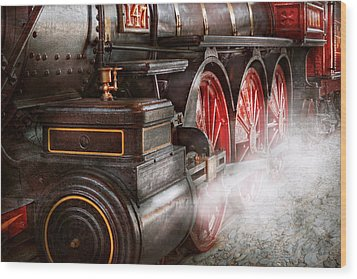 Train - Let Off Some Steam  Wood Print by Mike Savad