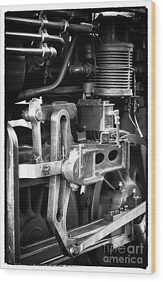 Train Pistons Wood Print by John Rizzuto