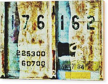 Train Plate 3 Wood Print by April Lee