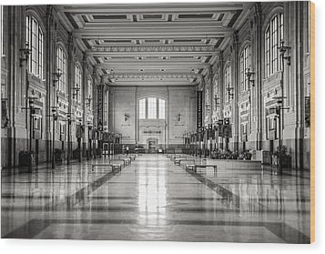 Train Station Wood Print by Sennie Pierson