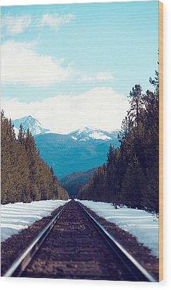 Train To Mountains Wood Print by Kim Fearheiley