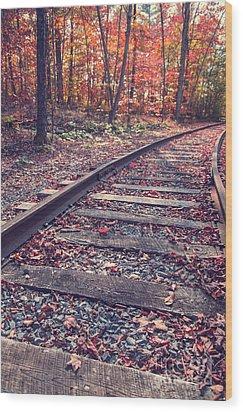 Train Tracks Wood Print by Edward Fielding
