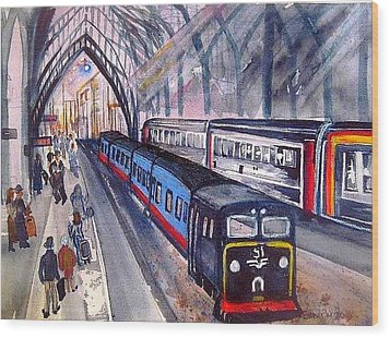 Train Train Train Wood Print by Esther Woods