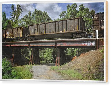 Train Trestle Wood Print by Davina Washington