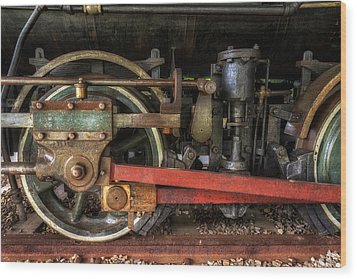 Train Wheels Wood Print