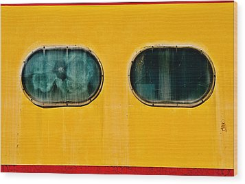 Wood Print featuring the photograph Train Window by Bud Simpson