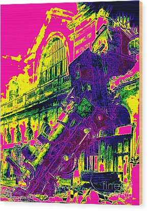 Train Wreck At Montparnasse Station 20130525 Wood Print by Wingsdomain Art and Photography
