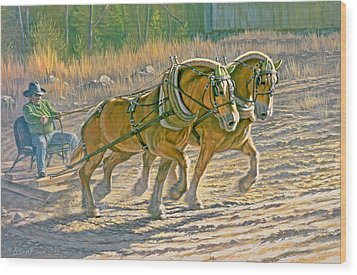 Training For The Pull  Wood Print by Paul Krapf