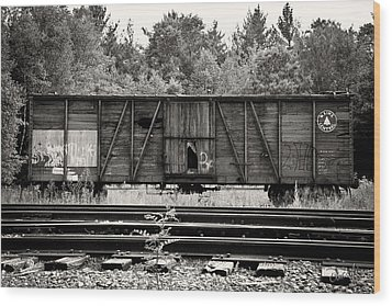 Trains Wood Print by David Fox Photographer