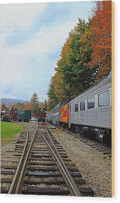 Wood Print featuring the photograph Trains Of Nh by Amazing Jules