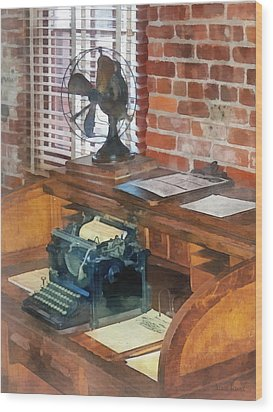 Trains - Station Master's Office Wood Print by Susan Savad