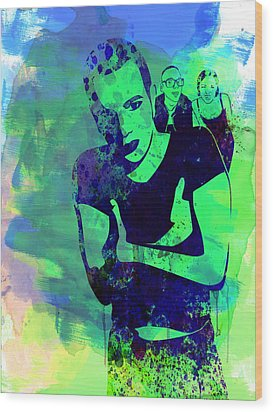 Trainspotting Watercolor 2 Wood Print by Naxart Studio