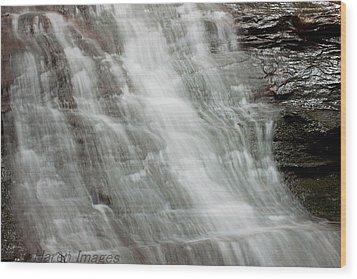 Wood Print featuring the photograph Tranquil Falls by Haren Images- Kriss Haren