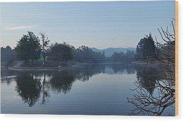 Tranquil Lake Wood Print by Remegio Onia