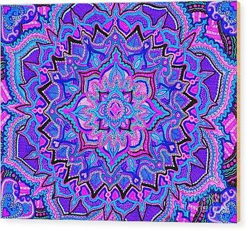 Tranquil Lotus Wood Print