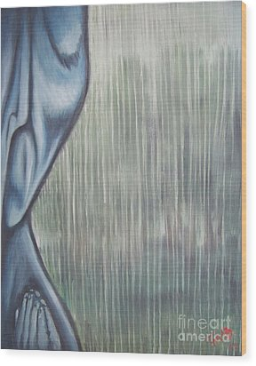 Tranquil Rain Wood Print by Michael  TMAD Finney