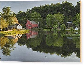 Tranquil River Reflections  Wood Print by George Oze