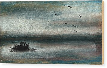 Tranquil Sea Wood Print by R Kyllo